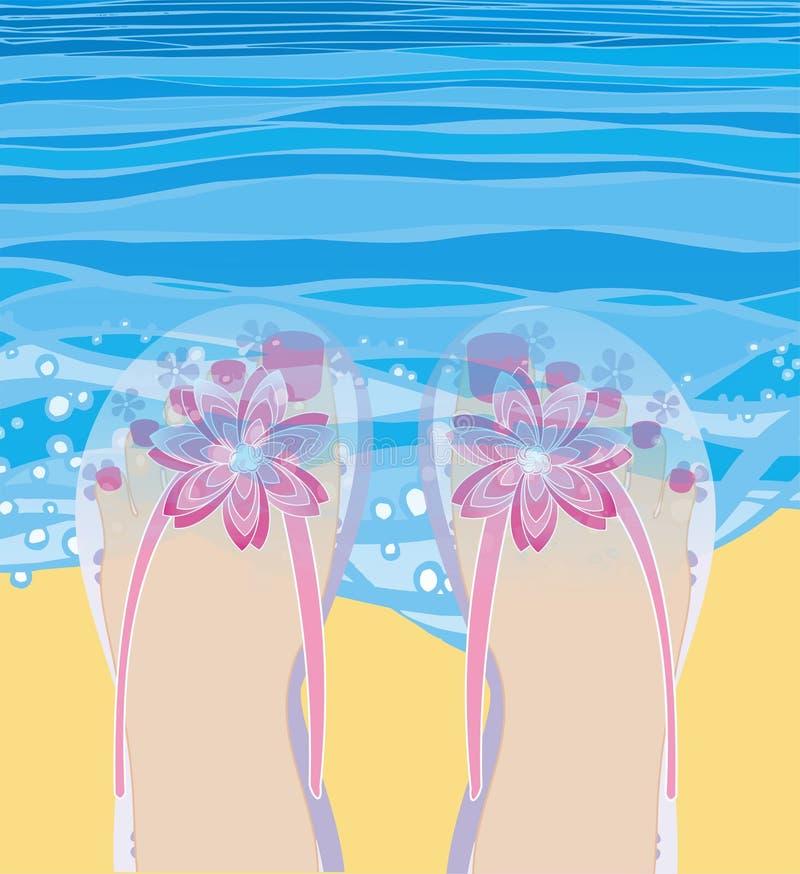 Remo no mar ilustração royalty free