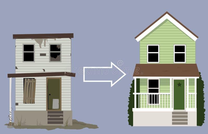 Remodelação da casa ilustração royalty free