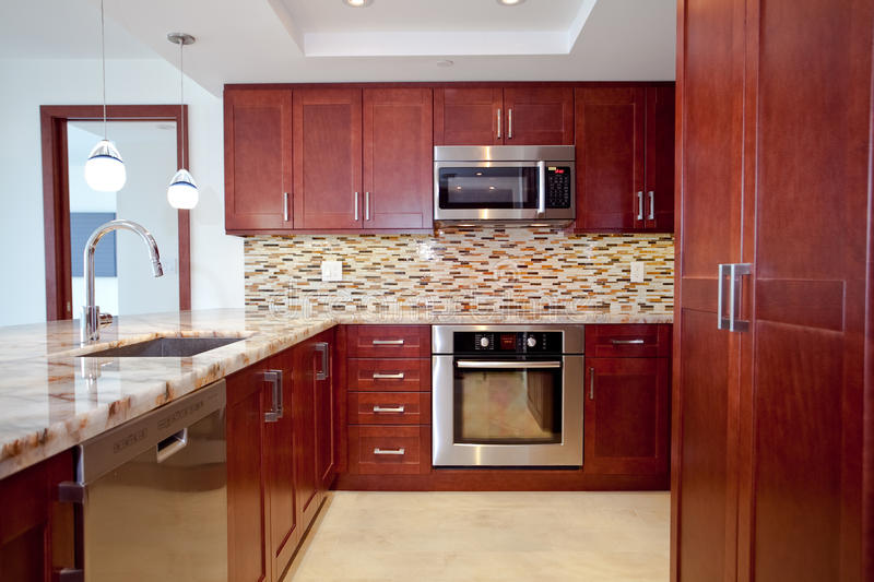 Remodeled Kitchen royalty free stock photography