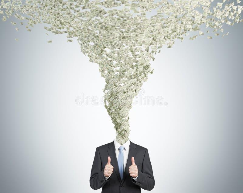 Remoinho do dinheiro imagens de stock
