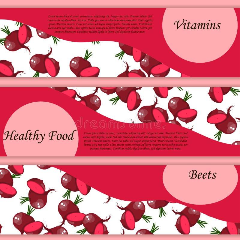 Remolacha roja de las verduras maduras enteras libre illustration