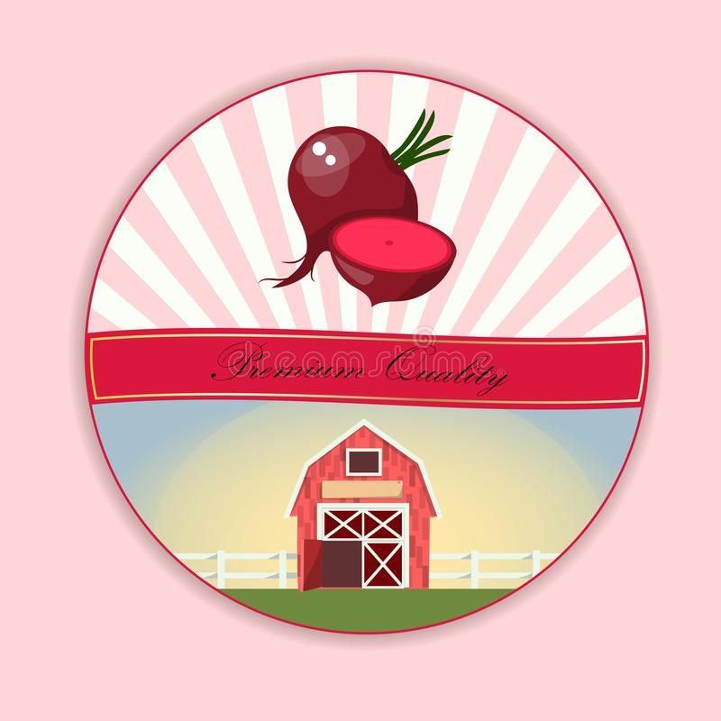 Remolacha roja de las verduras maduras enteras stock de ilustración