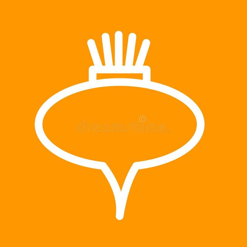 remolachas ilustración del vector