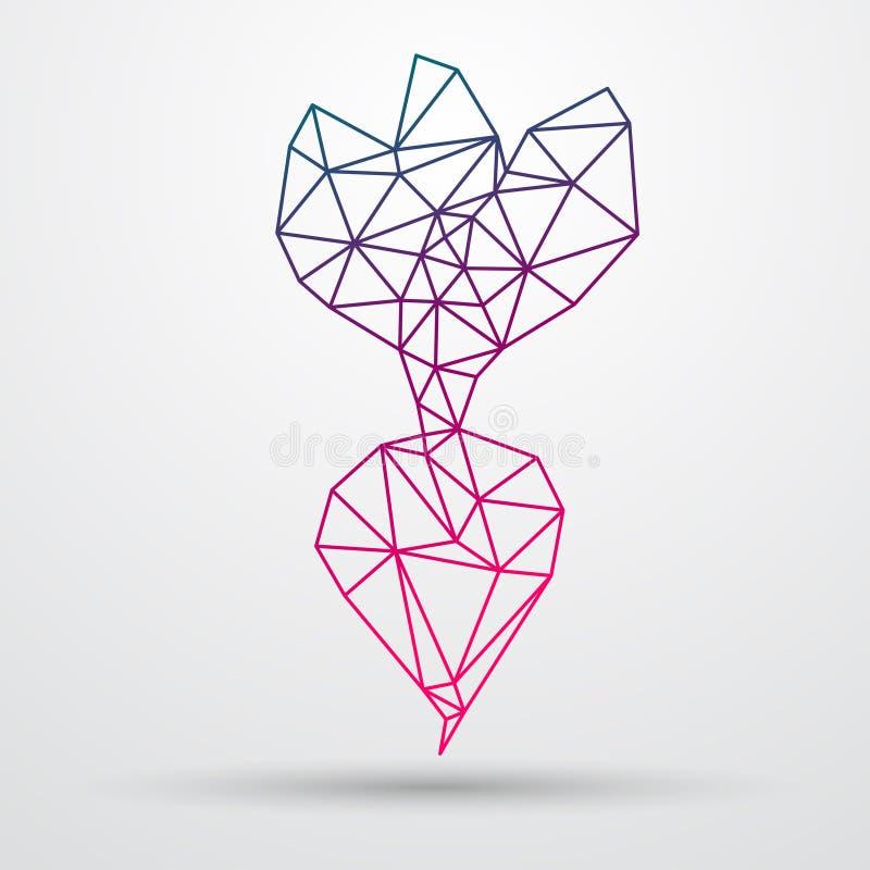 Remolachas abstractas del poligonal Diseño geométrico del triángulo Línea ejemplo de Colorfuul del vector libre illustration