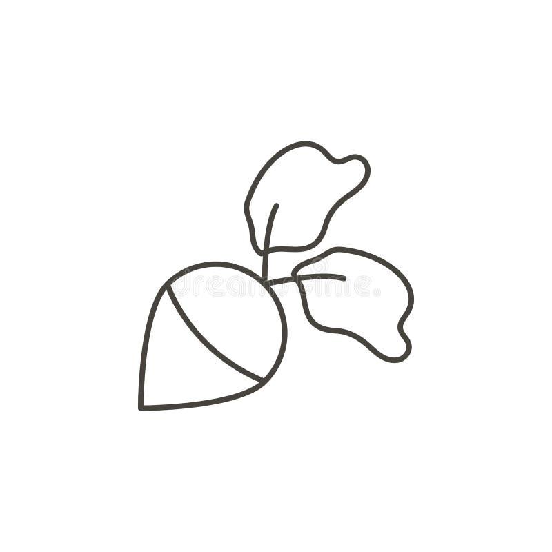 Remolachas, icono del vector del nabo Ejemplo simple del elemento del concepto de la comida Remolachas, icono del vector del nabo ilustración del vector
