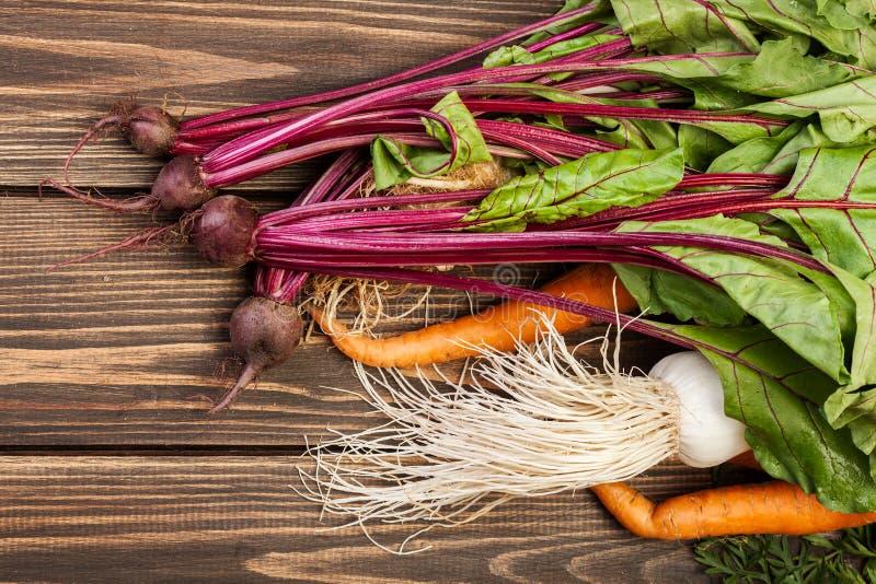 Remolachas, zanahorias y puerro imagen de archivo libre de regalías