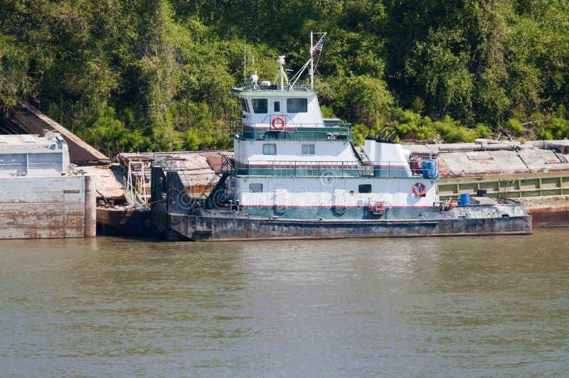 Remolcador del río de Missouri fotos de archivo libres de regalías