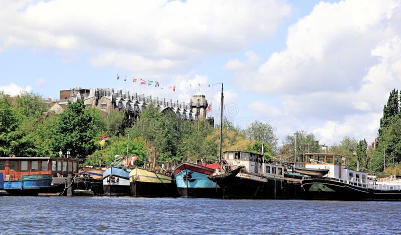 del puerto de amsterdam holanda foto editorial