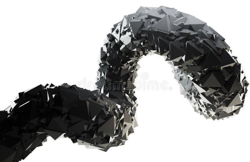 Remolino abstracto del negro 3D ilustración del vector