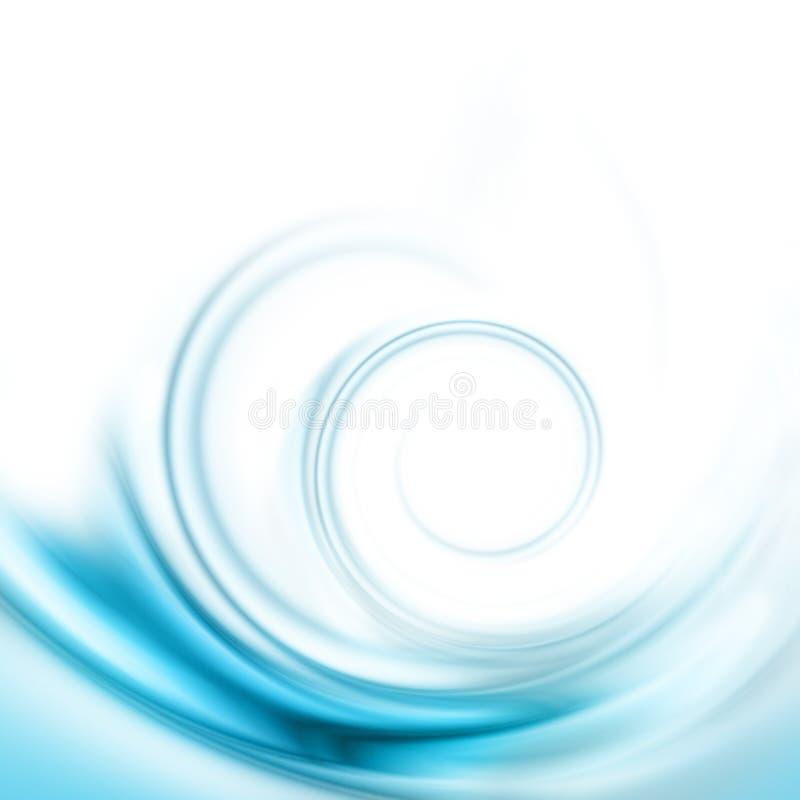 Remolino azul translúcido stock de ilustración