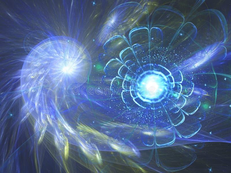 Remolino azul y flor del fractal libre illustration