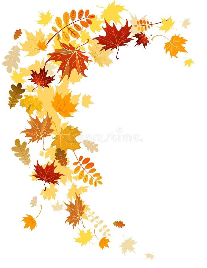 Remolino de las hojas de otoño stock de ilustración