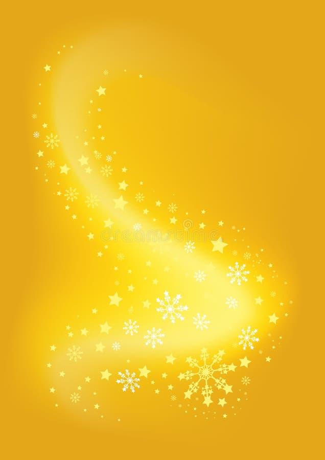 Remolino de oro de la Navidad ilustración del vector