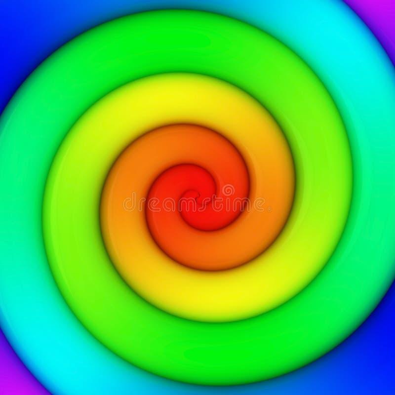 Remolino del arco iris ilustración del vector