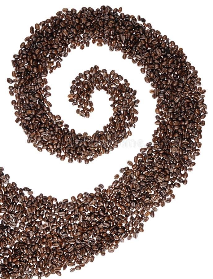 Remolino del grano de café imagen de archivo