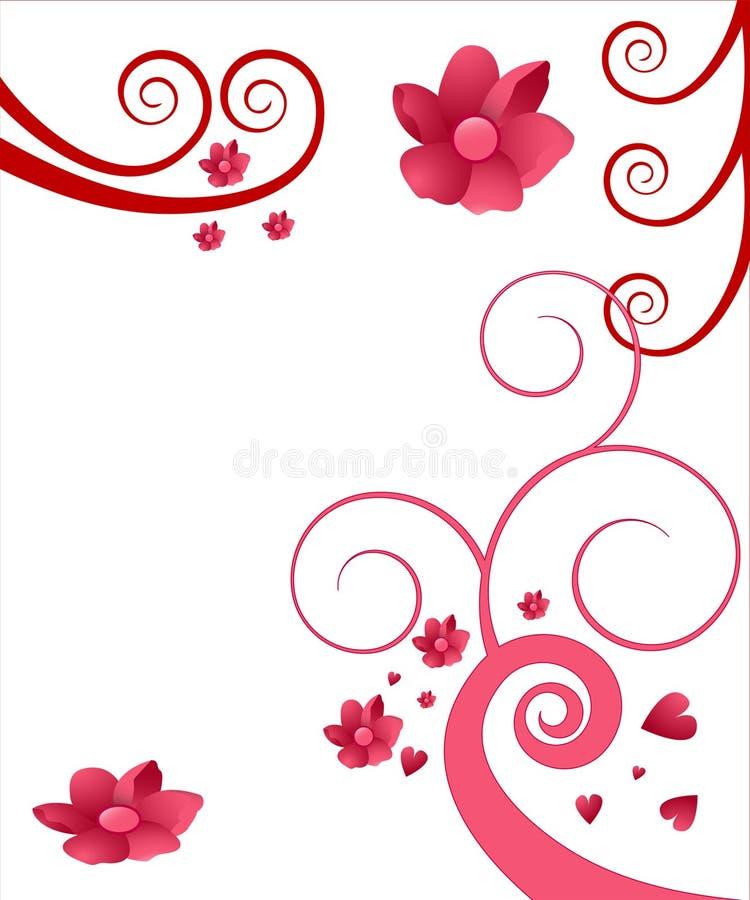 Remolino e ilustración de la flor ilustración del vector