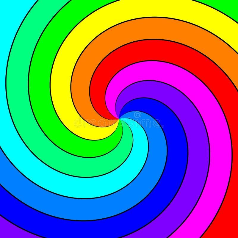 Remolino espectral del arco iris libre illustration