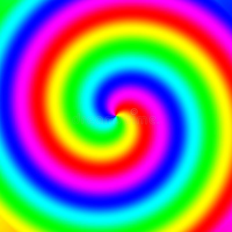 Remolino espectral del arco iris ilustración del vector