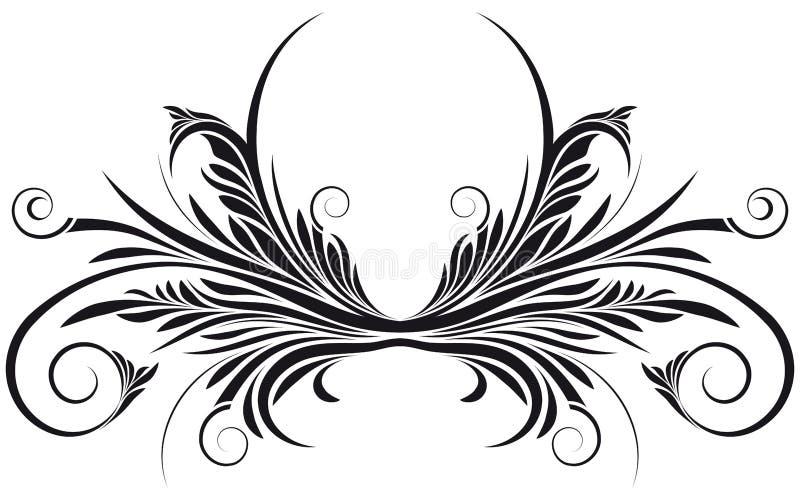 Remolino floral del vector ilustración del vector