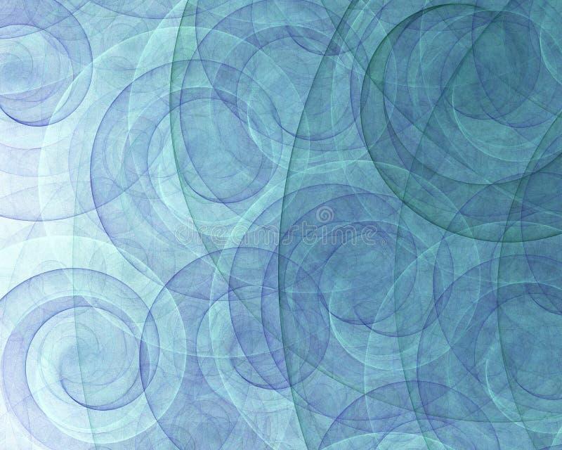 Remolinos abstractos del espiral stock de ilustración