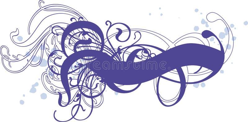 Remolinos azules stock de ilustración