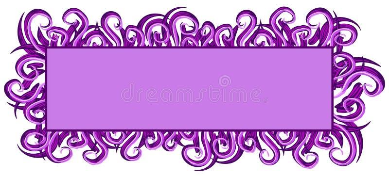 Remolinos de la púrpura de la insignia del Web page stock de ilustración