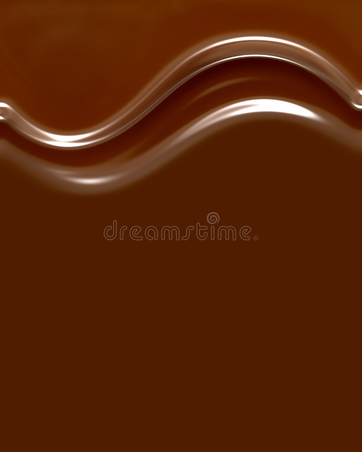 Remolinos del chocolate ilustración del vector