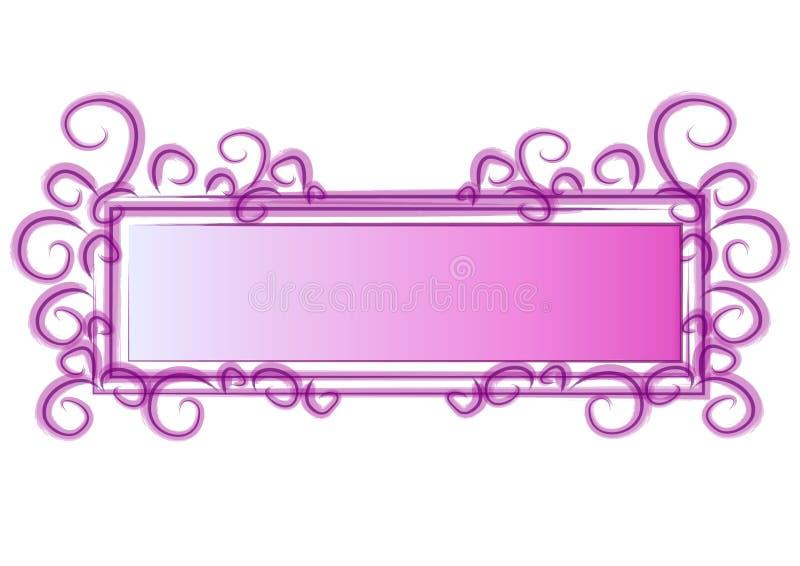 Remolinos del color de rosa de la insignia del Web page libre illustration