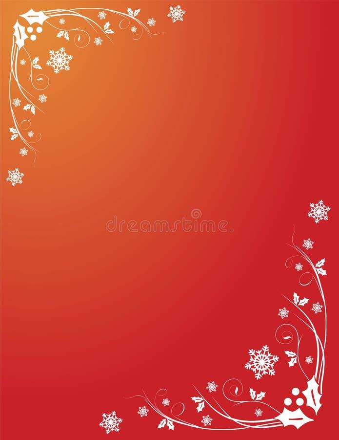 Download Remolinos Rojos Del Acebo De La Navidad Ilustración del Vector - Ilustración de navidad, invierno: 7287967