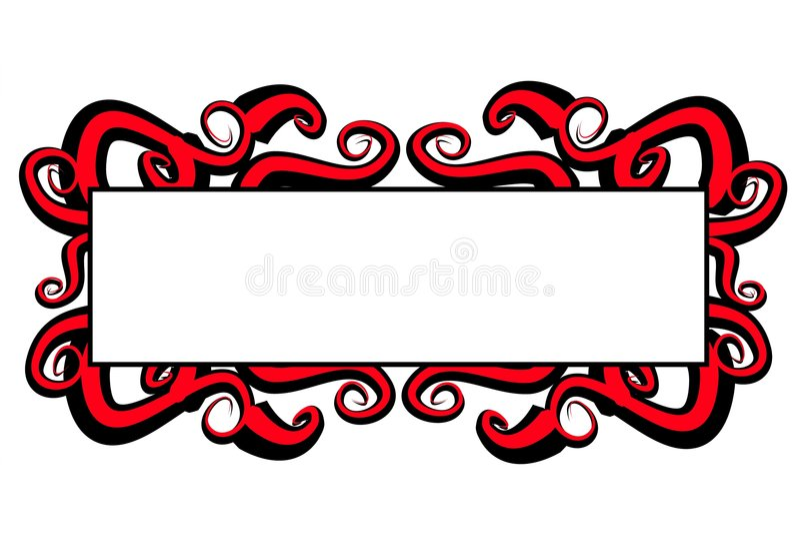 Remolinos rojos del negro de la insignia del Web page libre illustration