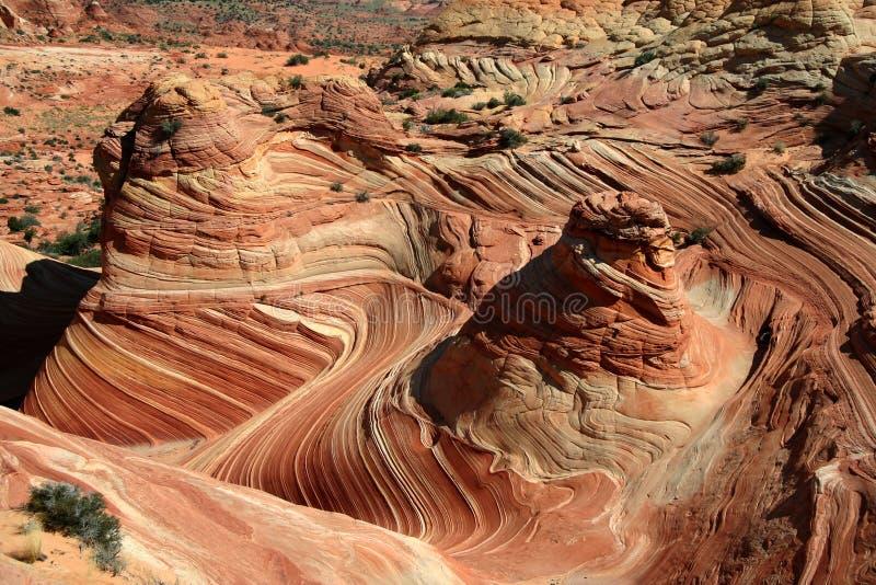 Remolinos y giros de la roca fotos de archivo