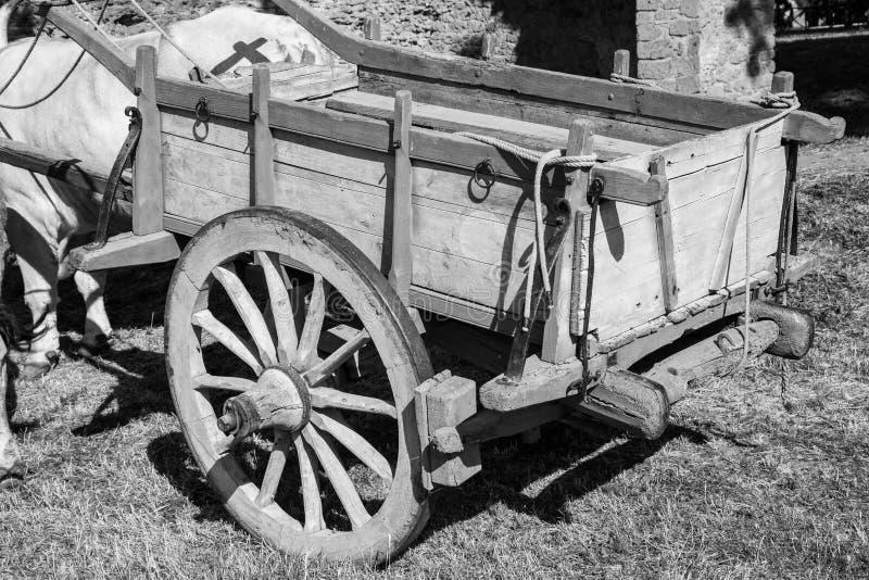 Remolque de madera de la granja imagen de archivo libre de regalías