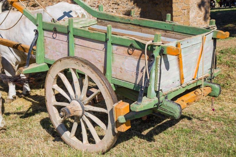 Remolque de madera de la granja fotografía de archivo libre de regalías