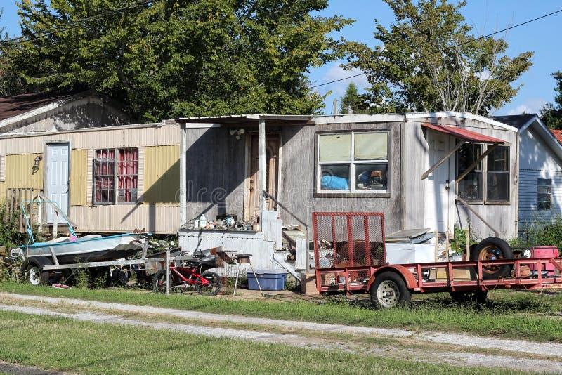 Remolque dilapidado en Luisiana fotografía de archivo
