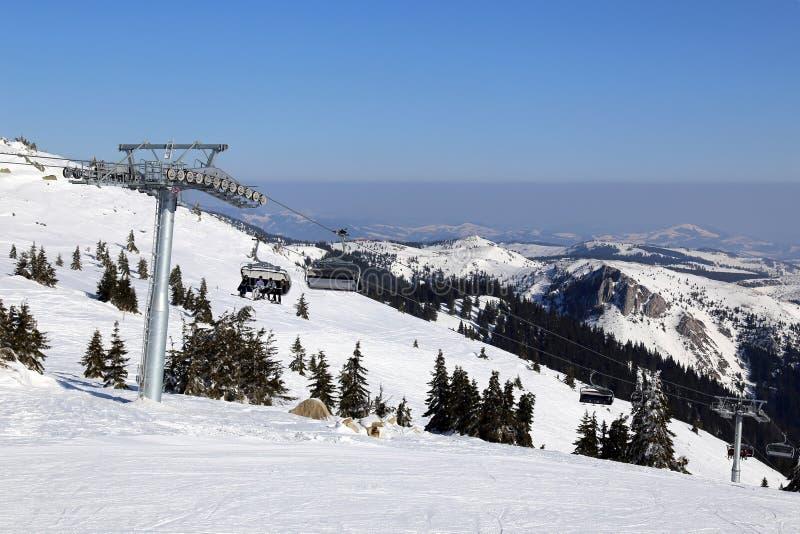 Remonte en la montaña en invierno, Serbia fotos de archivo libres de regalías