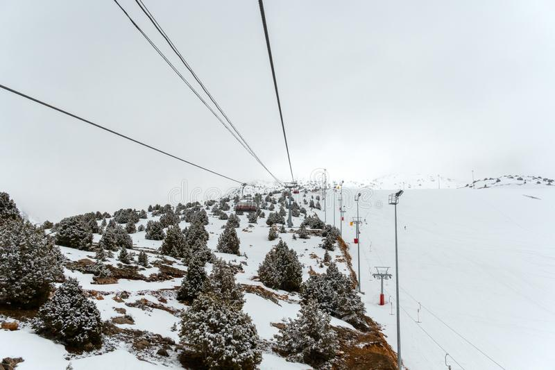 Remonte-pente de Ski Center image stock