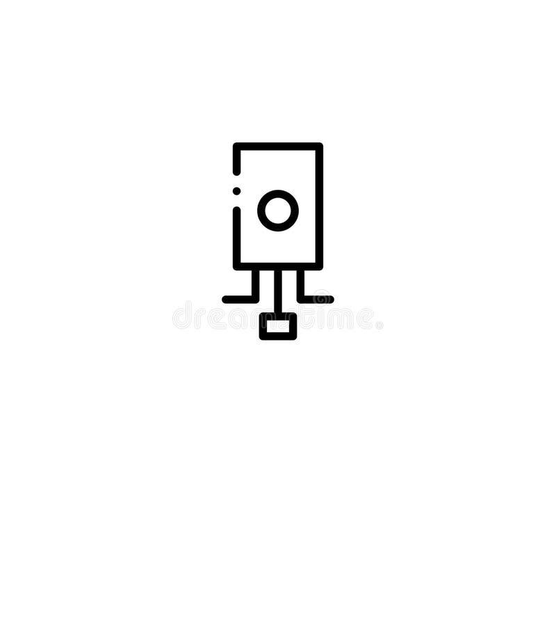 Remontowa płaska ikona royalty ilustracja