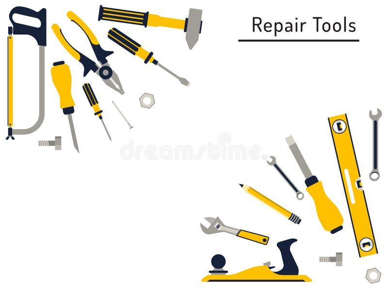 remontowi narzędzia ilustracja wektor