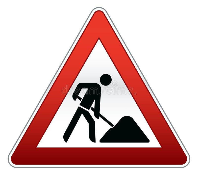 remontowy drogowy znak ilustracji