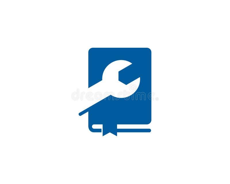 Remontowy Książkowy logo ikony projekt royalty ilustracja