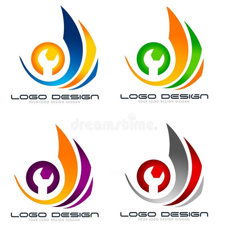 Remontowy logo ilustracja wektor