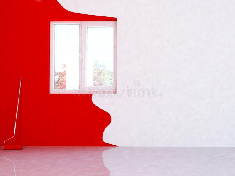 remontowy pokój ilustracji