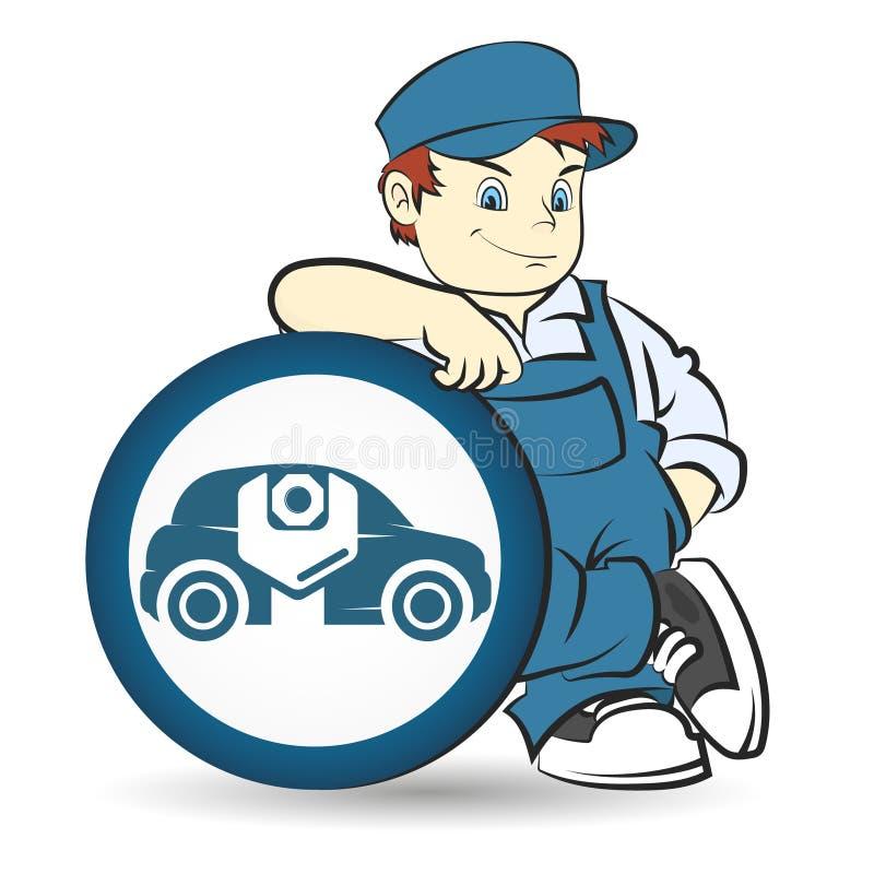 Remontowy samochodu mistrz ilustracji