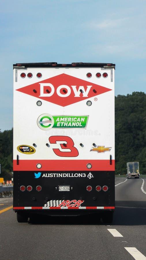 Remorque de NASCAR-Austin Dillon #3 images stock