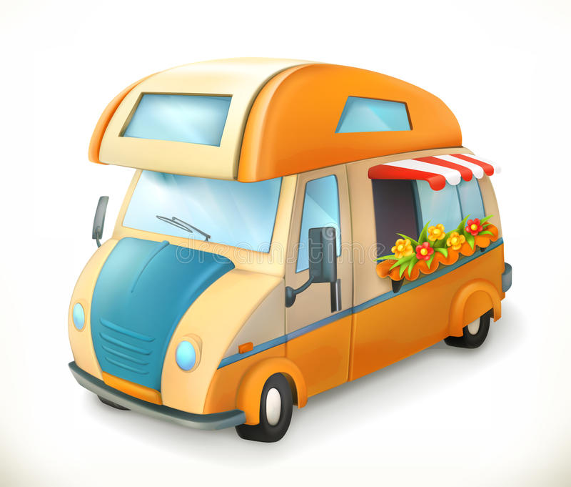 Remorque de voyage Camping, icône de vecteur illustration de vecteur