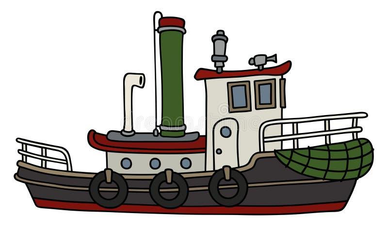 Remorqueur drôle de vapeur illustration stock
