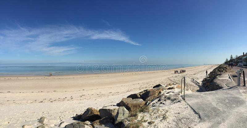 Remote beach. In South Australia stock photography