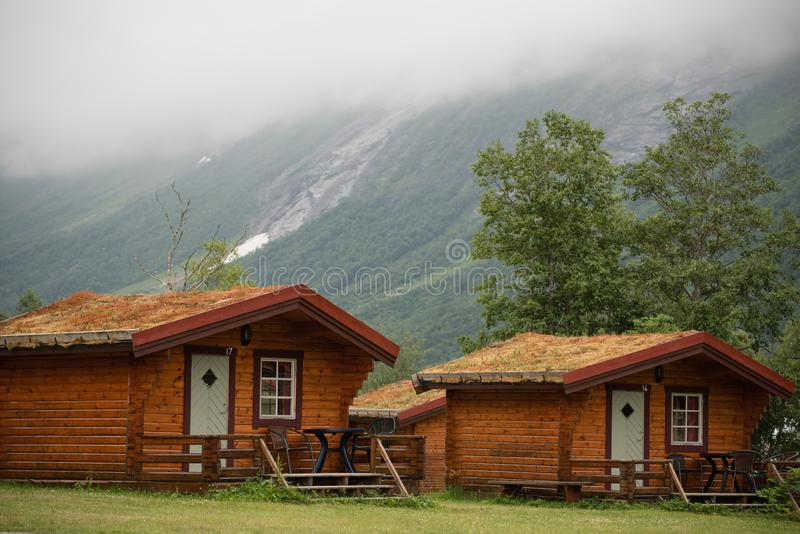 Remote cabins in the mountains royalty free stock photos