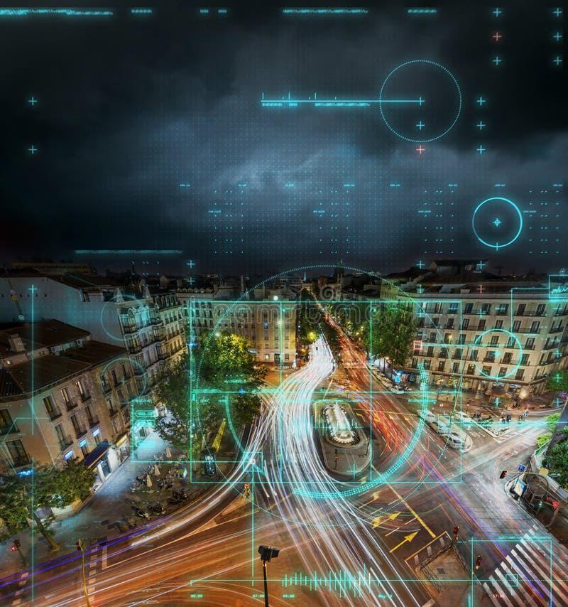Remote camera monitoring of a city stock photo