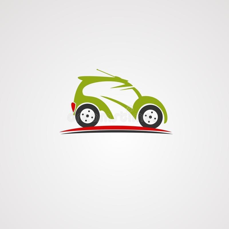Remote car on street logo vector, icon, element, and template for company vector illustration